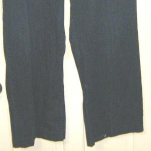 Avenue Pants - Denim Wide Leg Crop Pants Capris 26W